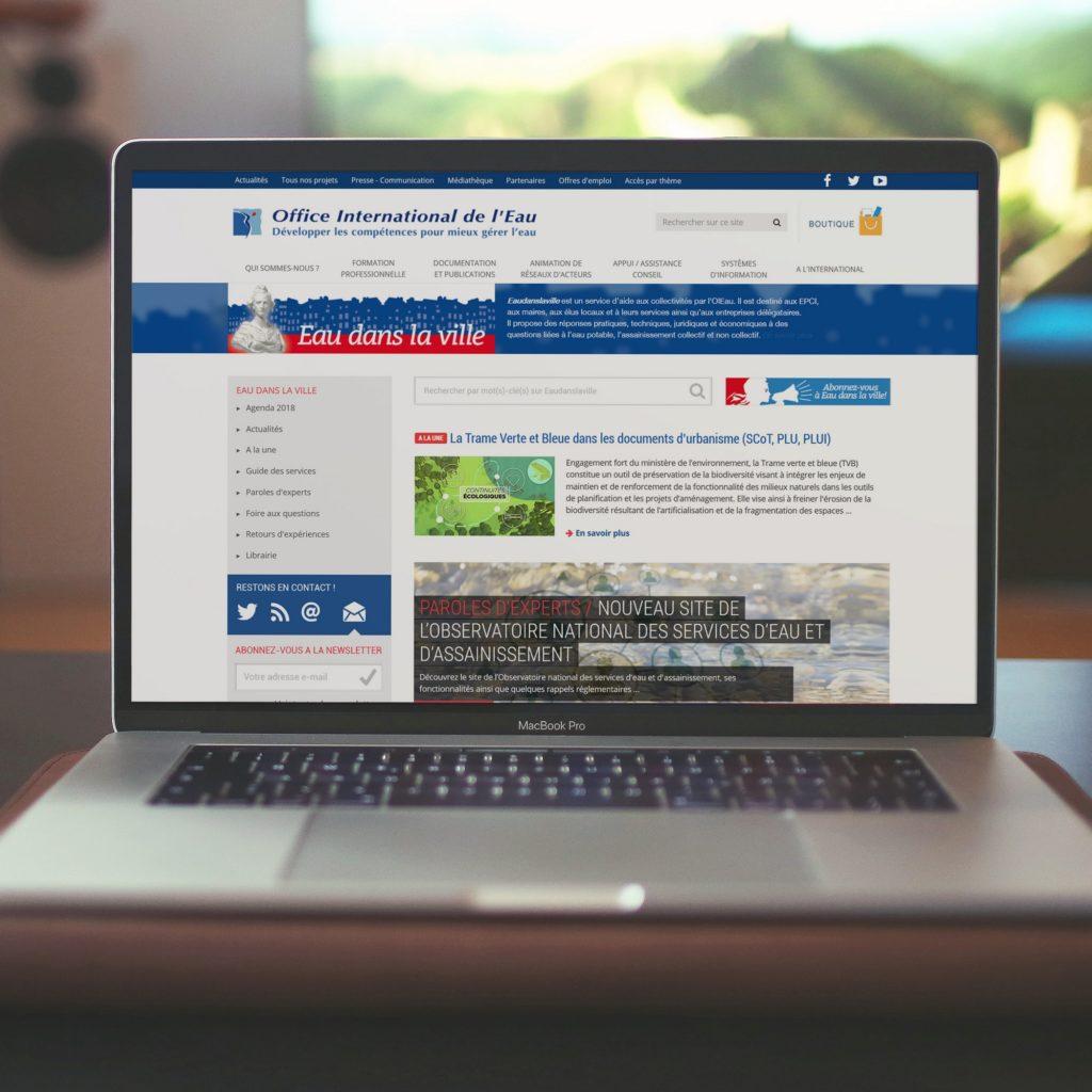 Page d'accueil du site Eaudanslaville