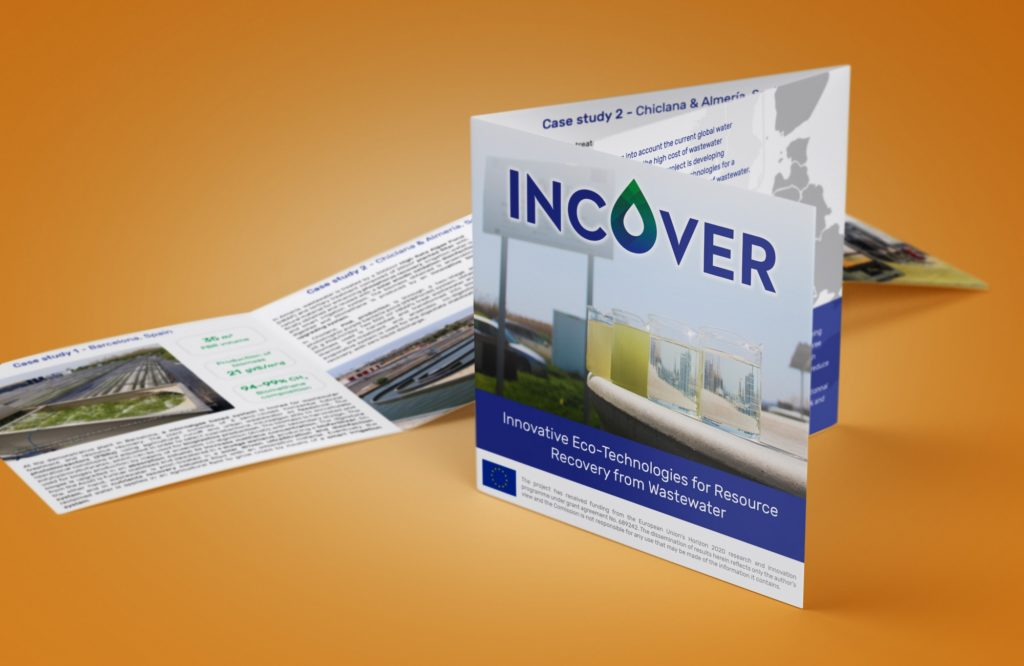 Leaflet en 3 parties du projet européen Incover