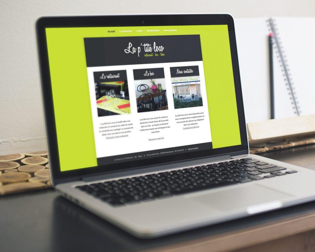 Site web de La p'tite loco (page d'accueil)