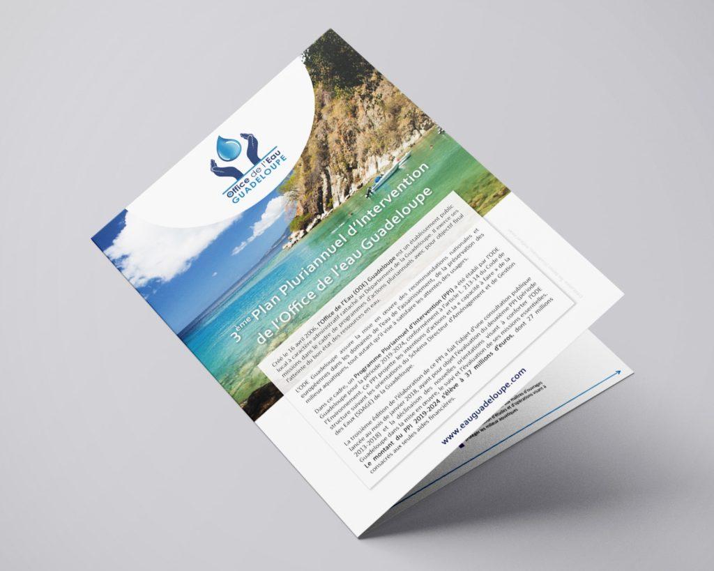 Plaquette d'information 4 pages sur la Guadeloupe