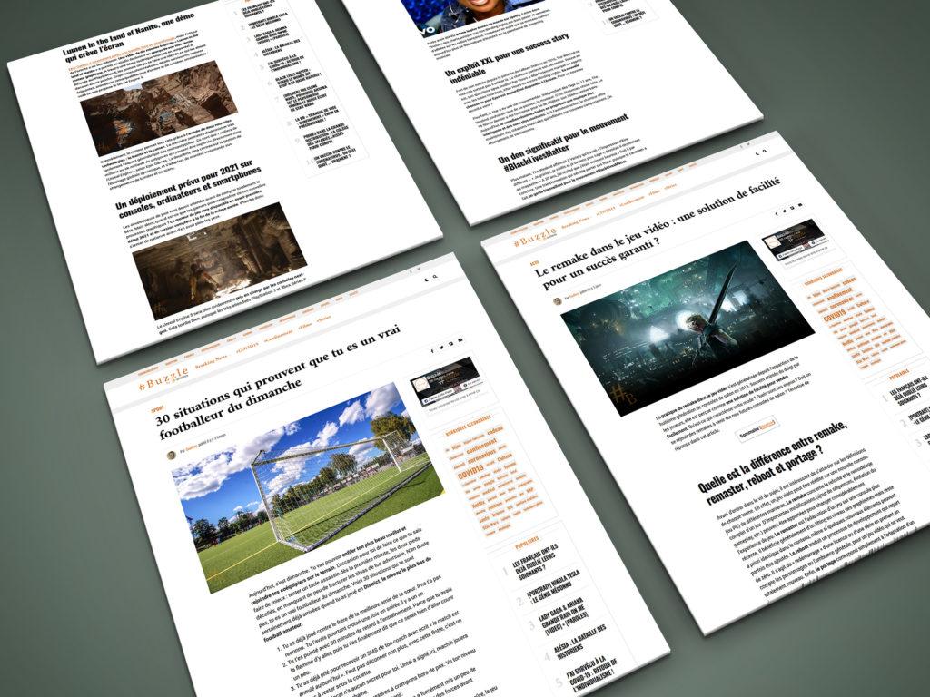 Rédaction web (articles visibles sur Buzzle)